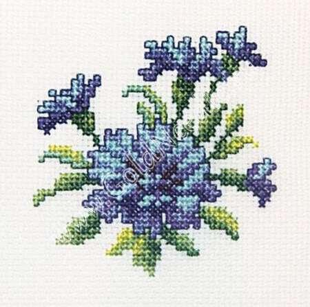 основная вышивка цветов васильков крестом нити самые свежие